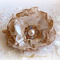 Lacey Latte' Brooch