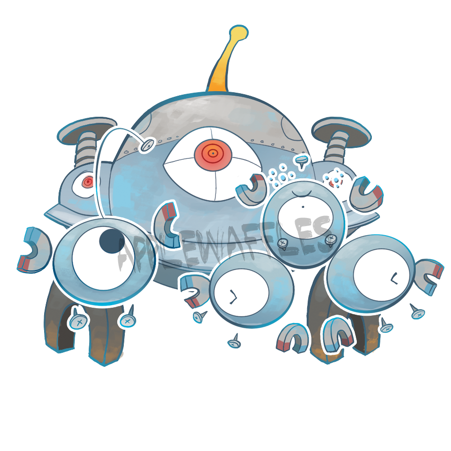 Pokemon Magnemite Sticker · pokemon · magneton