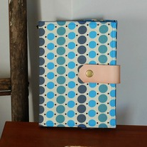 Fabric Covered A5 Journal - Blue Dots