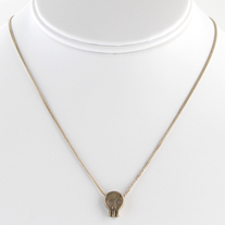 Skull Necklace (Antique Gold)