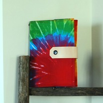 Fabric Covered A5 Journal - Hippie - Mother's Day Special - Was $35 Now $29