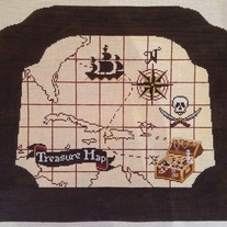 Treasure Map Child's Rocking Chair Canvas on  13 mesh
