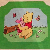 Pooh & Friends Child's Rocking Chair Canvas on  13 mesh