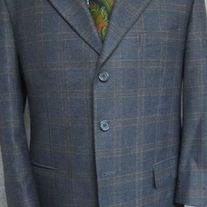 Manzini Windowpane Sport Coat - 42S