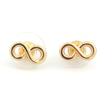 Simple Gold Infinity Earrings