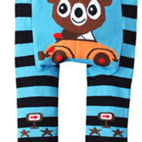 Bear in Car Legging Pants in New Style for boys and girls