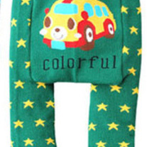 Bus Legging Pants in Green New Style Colorful Diaper Cover Pants