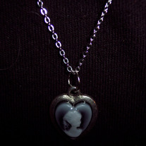 Heart shaped Cameo Necklace