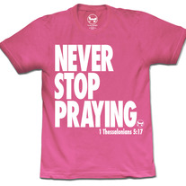 Never/Stop Praying (Neon Pink)