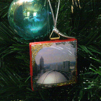 Recycled Tile Holiday Ornament - Civic Arena