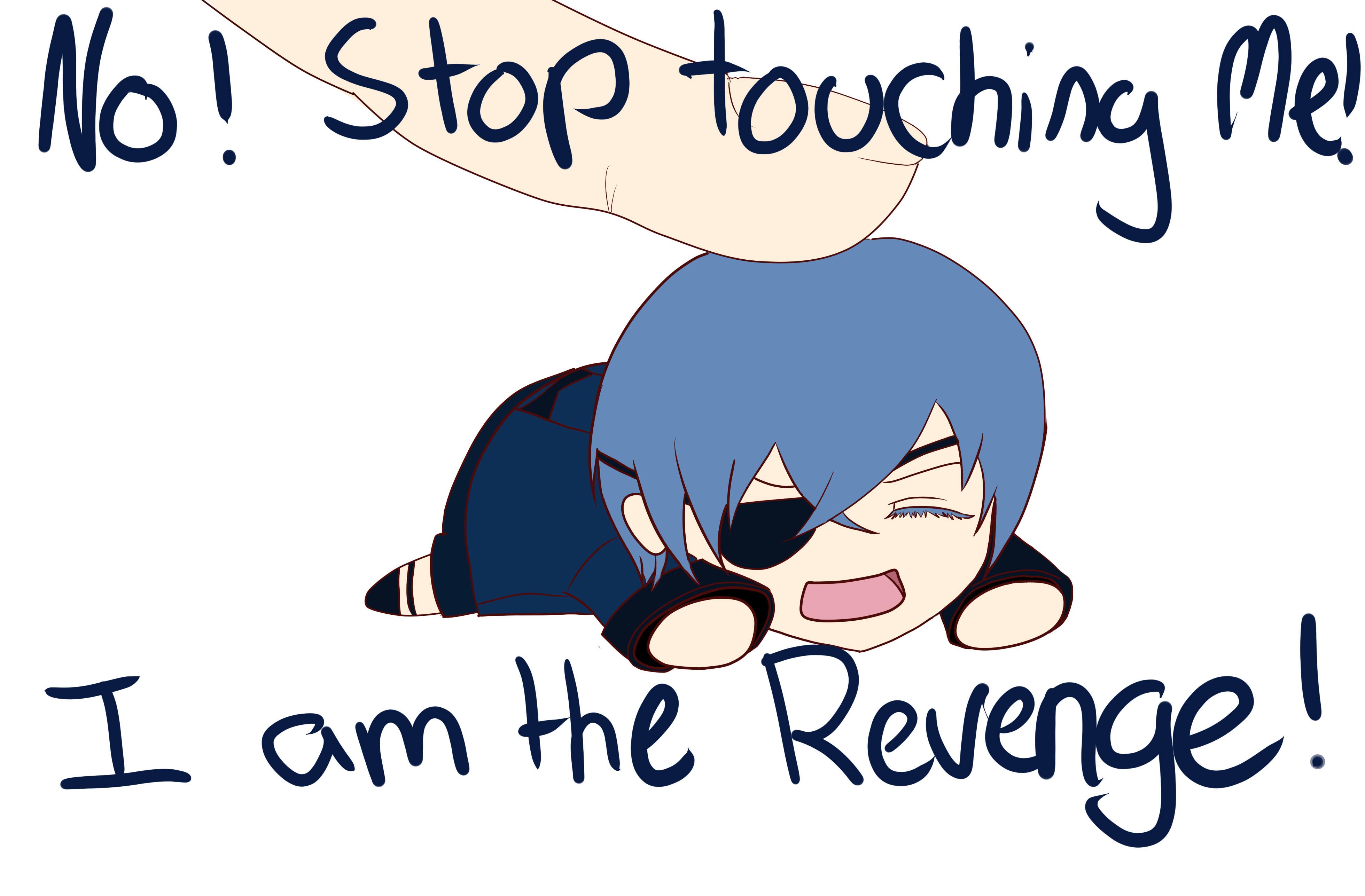 Ciel i am the revenge meme sticker