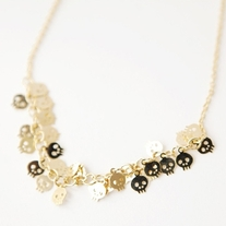 Tiny Skull Necklace - Gold