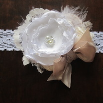 White and Caramel Glamour headband