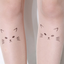 Cat print tattoo tights - Thumbnail 2