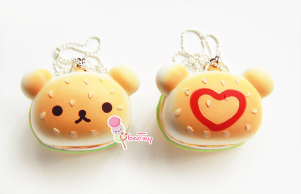 Rare Squishy Giveaway : Rilakkuma Heart Burger ? Uber Tiny ? Online Store Powered by Storenvy