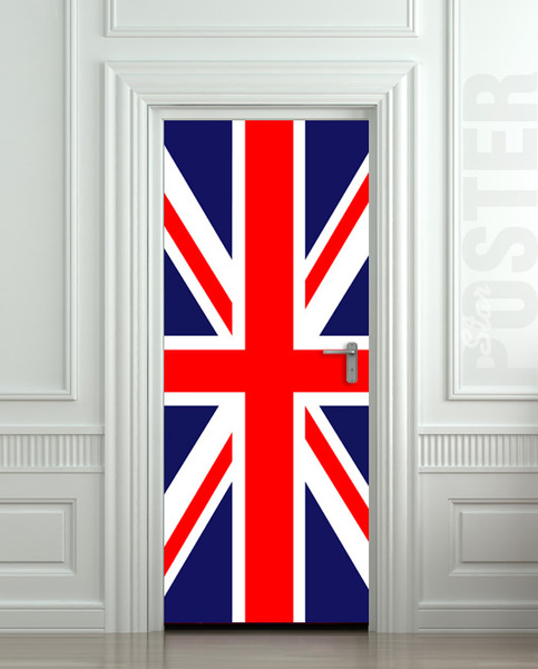 Door Sticker British Flag Uk Banner Great Britain English
