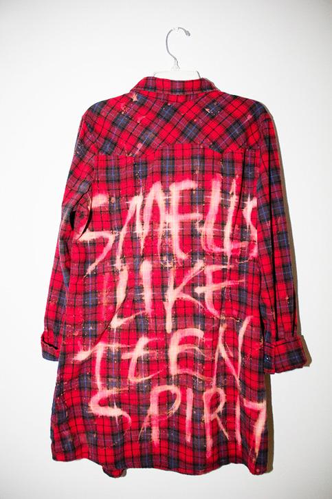 Smells Like Teen Spirit Nirvana Plaidflannel Shirt