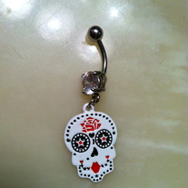 Sugar Skull Belly Button Ring