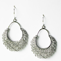 Filigree Dangle - Silver or Gold