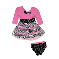 Lipstick Girls Knit Dress w/Diaper Cover