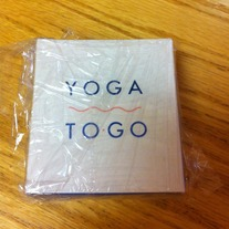 Yoga To-Go (25 illustrated cards of poses, 32 page book with tips and instructions, & yoga strap) by Laurie Gail Newman
