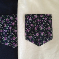 Navy Floral Pocket Punt T-Shirt