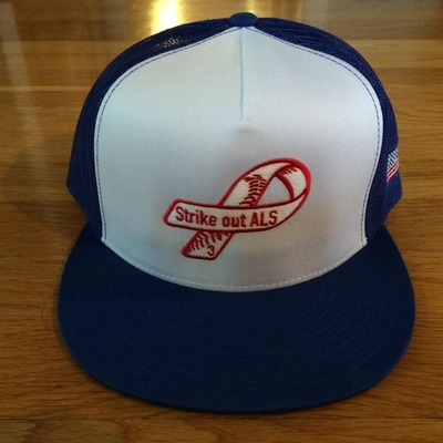 Blue frate train trucker hat