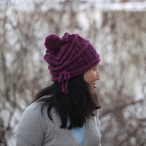 Plum Lace Cloche Hat