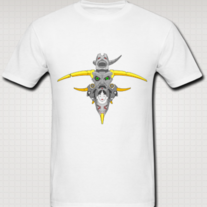 """TOTEM (Eye Gaze)"" Shirt for Men (White)"