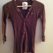 Knit Button up Hollister Sweater top