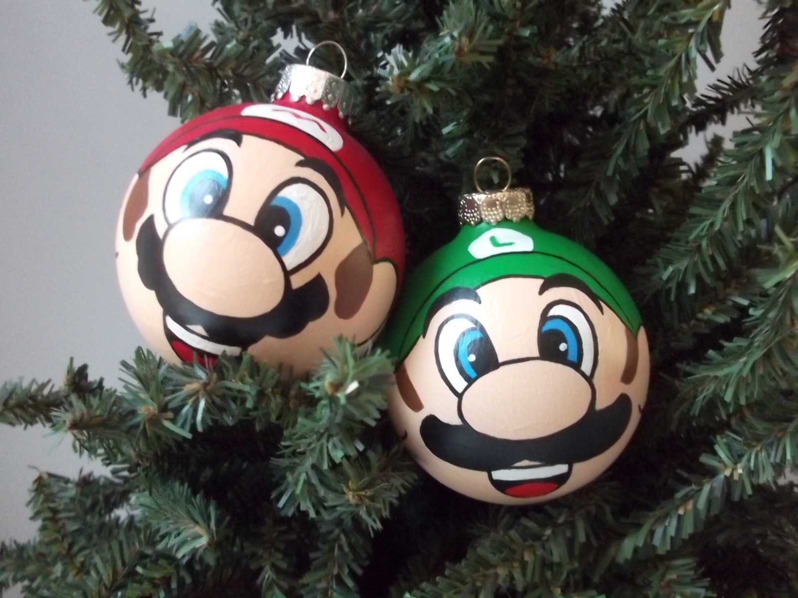 Uncategorized Christmas Ornament Painting super mario painted holiday ornament ginger pots online store thumbnail 4