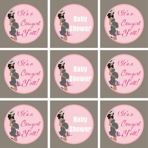 Cowgirl Baby Shower Printables African American Diy