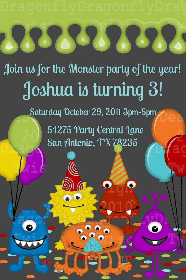 J G Design Studio Silly Monsters Party Printable DIY Collection