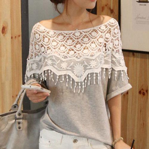 Crochet Collar Blouse 18