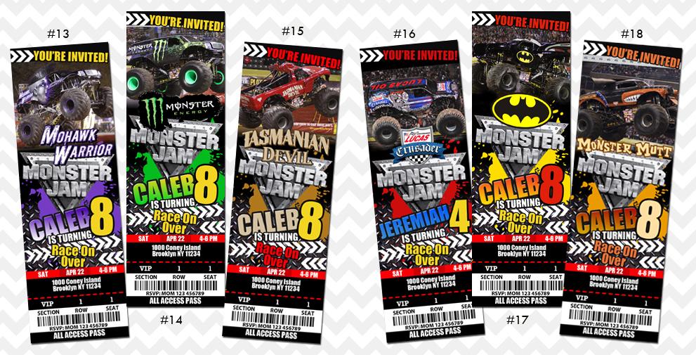 Monster Jam Invitation on Storenvy