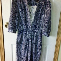 Breli Originals Blue and White Dress Sz 16