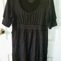 Energie Black Polka Dot Dress M