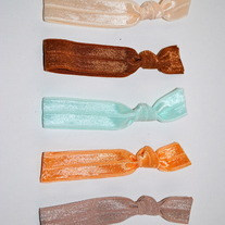 The Wiley Set- 5 No-Crease Elastic Hair Ties