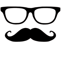 Mustache + Glasses | Vinyl Decal Sticker