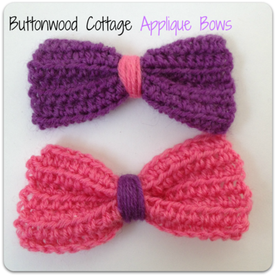 Applique bows