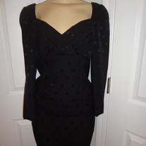 Vintage Black Polka Dot Dress Size 4