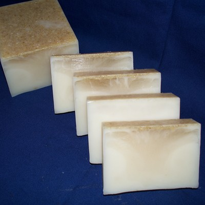 Oatmeal and honey goats milk soap