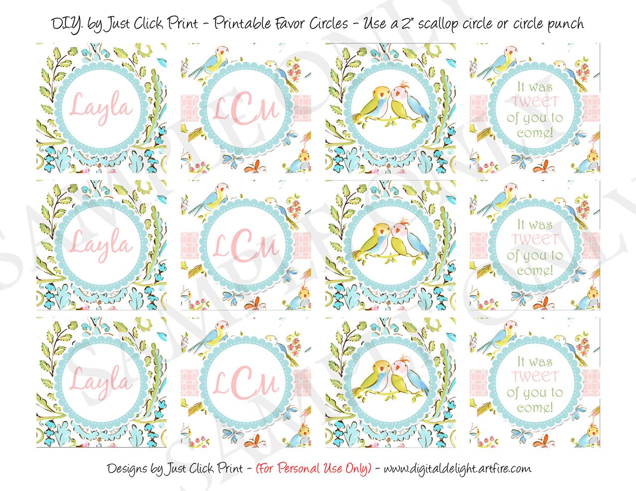 Tweet Little Love Birds Baby Shower Invitation Printable · Just ...