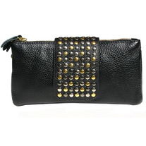 Leather Rivet Bag - Wear 3 ways
