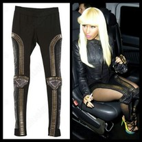 Nicki Minaj Mesh Studded Leggings