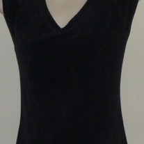Black Terry Cloth Sleeveless Shirt-Mimi Maternity Size Medium CLLO1