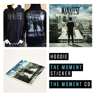 The moment cd, hoody, & sticker