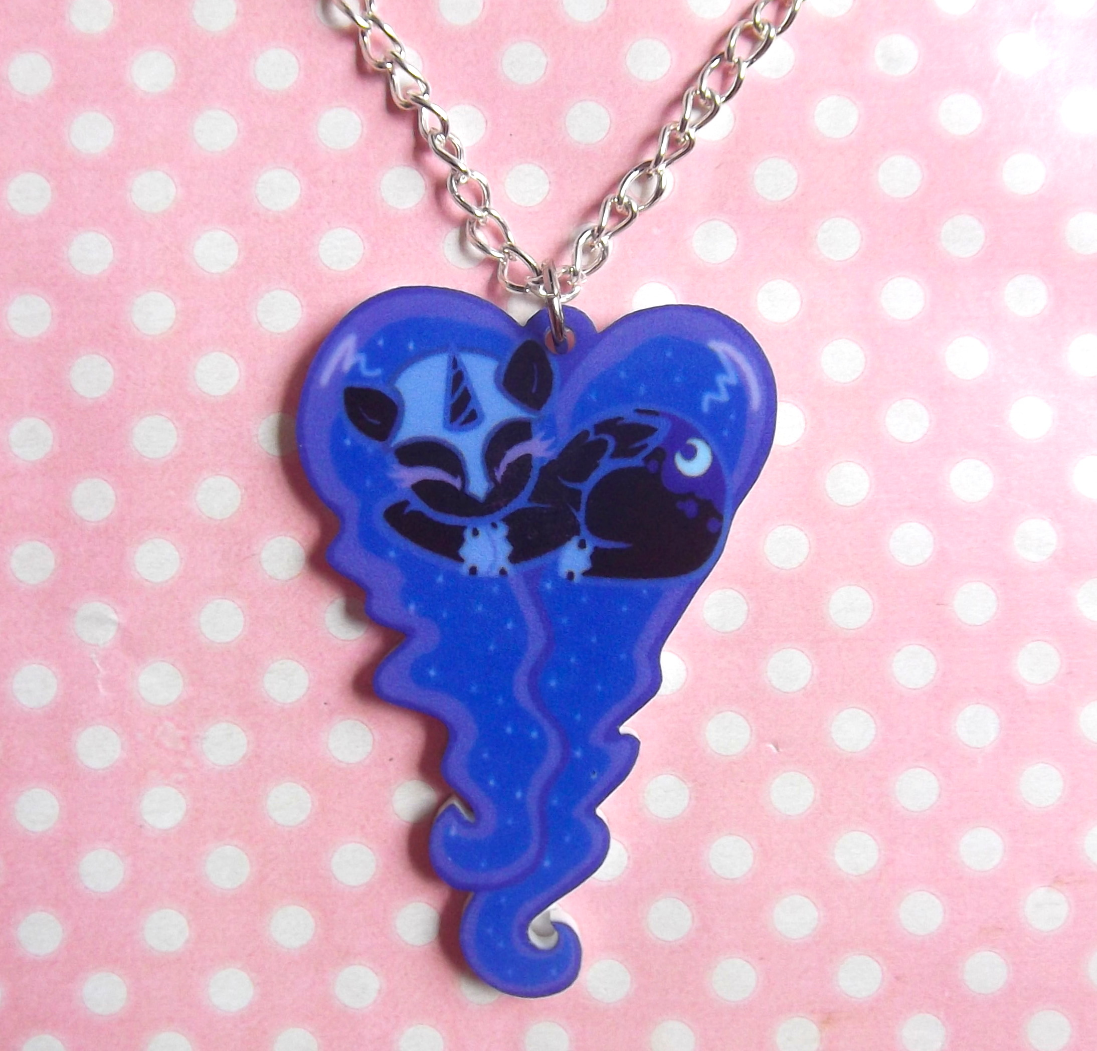 Home kawaii kave online store powered by storenvy nightmare moon my little pony friendship is magic sleeping heart necklace aloadofball Gallery