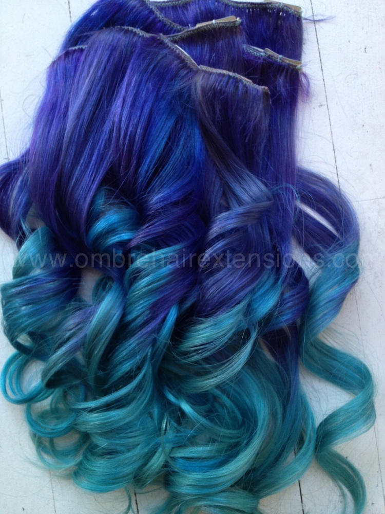 Purple  Blue Hair Extensions  Purple Ombre  Dip Dye Blue  Burning Man    Bluish Purple Hair