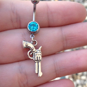 Pistol Belly Ring